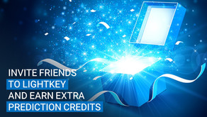 Invite friends to Lightkey and earn extra prediction credits
