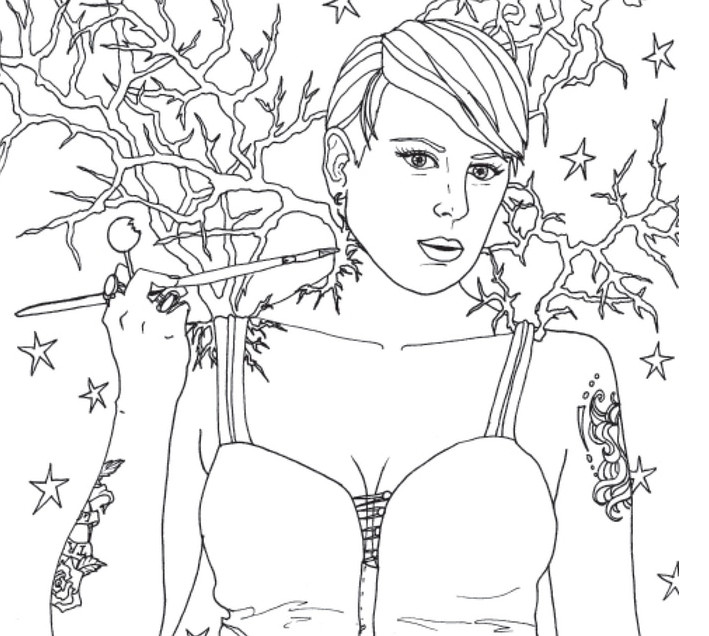 Stoner Babes Coloring Book Gives a Revealing Peak at Cannabis-Loving Women