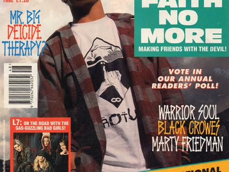 Faith No More | Kerrang! 420 - 28th November 1992