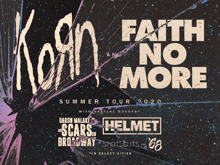 Faith No More and Korn U.S and Canada Summer Headline Tour