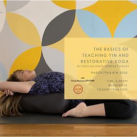 The Basics of Teaching Yin and Restorati