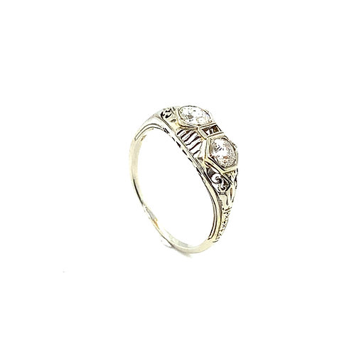 Stunning 18K White Gold IGI Certified 0.75 Carats Diamond Engagement Ring