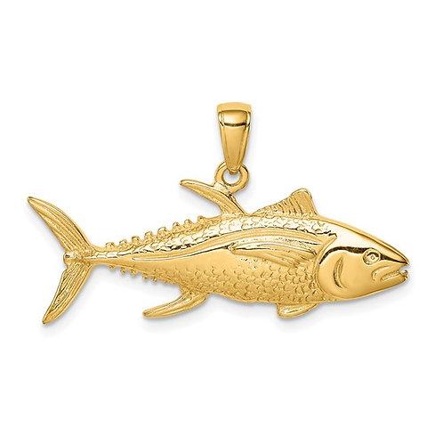 14k Yellowfin Tuna Fish Pendant