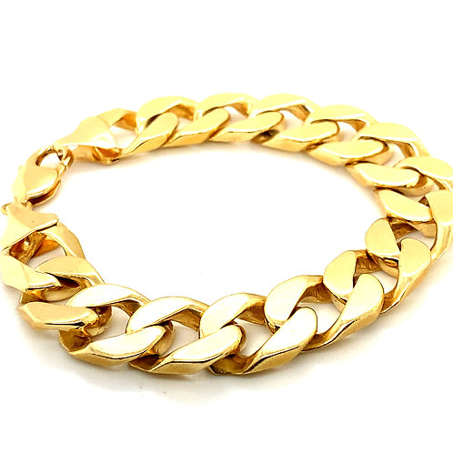 Statement Piece! Cuban Link Bracelet Super Thick 20mm Handcrafted 14k Gold