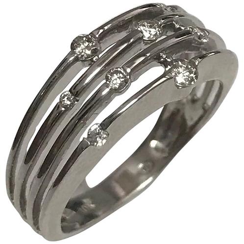 10 K White Gold 8 Diamond Wedding Band