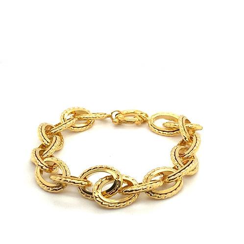 Fancy Beautiful 14K Chunky Bracelet