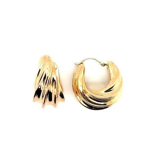 Gorgeous 14K Gold Wind Earrings