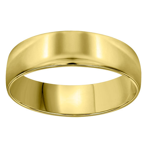 Men's 14K Yellow Polished Gold Wedding Band 6mm 3.3g NICE!