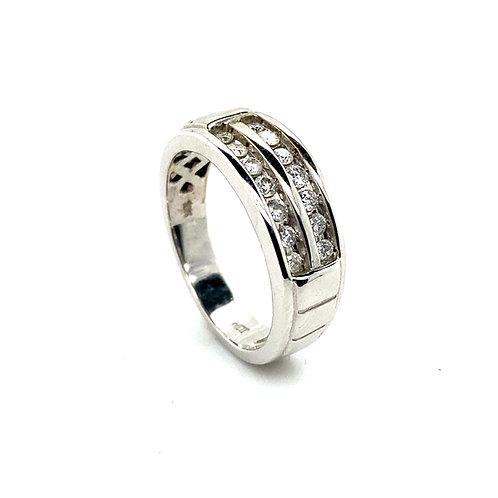 Men's 10K White Gold 0.50 Carats IGI Certified Diamond Wedding Ring
