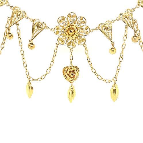 Women's 18K Gold Floral Design Necklace