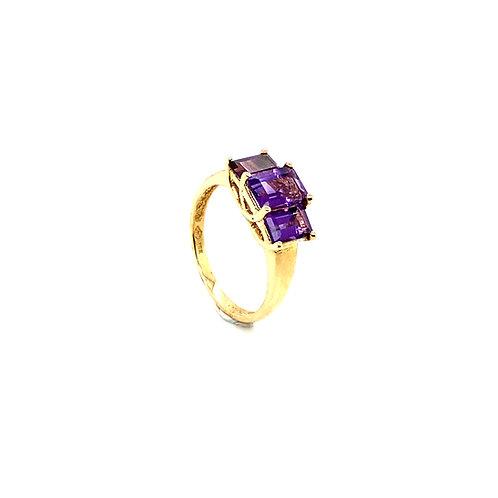 Statement 10K Gold 0.75 Carat Amethyst Ring