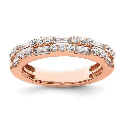 GORGEOUS! 14k Rose Gold & Diamond Wedding Band 1ct