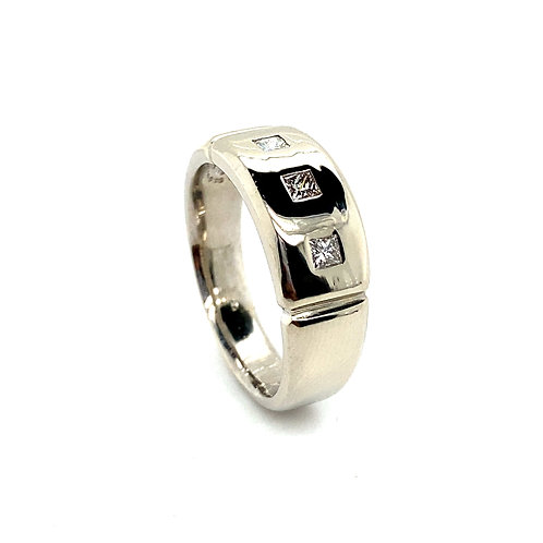 Men's 14K White Gold 0.36 Carats IGI Certified Diamond Wedding Ring