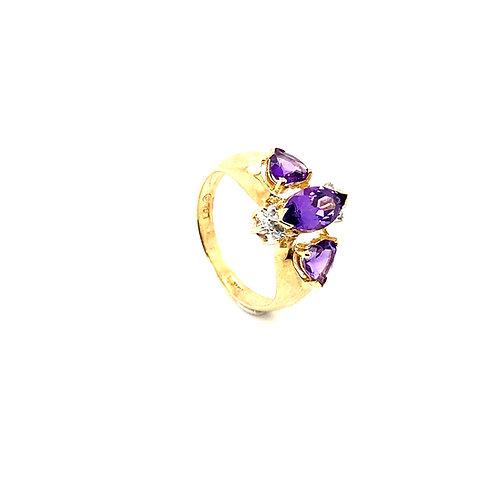 Regal 10K Gold 0.75 Carats Amethyst Ring