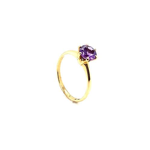 Stunning 10K Gold 0.75 Carat Amethyst Ring