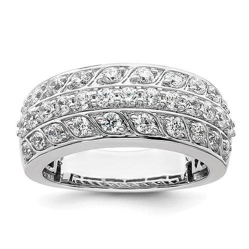 Beautiful Women's 14k White Gold & Diamond Ring Wedding Band