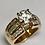 Thumbnail: 14 K Yellow Gold 3.03 CTW Diamond Engagement Ring ~ IGI Cert