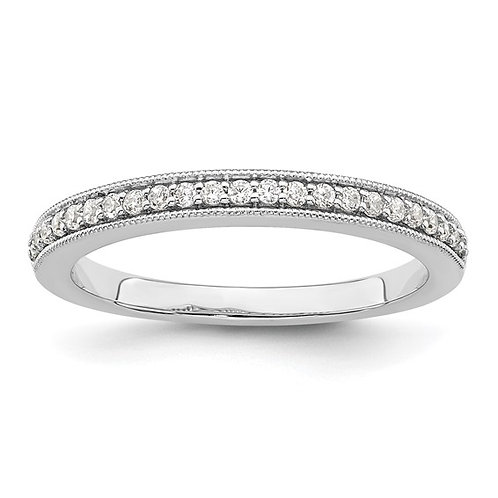 Women's Gorgeous 14k White Gold & Diamond Wedding Band