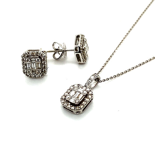 IGI Certified! Dripping in Diamonds w/This Set! Matching Stud Earrings & Pendant