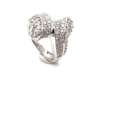 Women's IGI Certified Diamond and 14K White Gold Ring