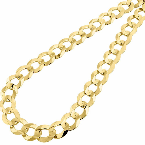 "Solid Curb Thick 13mm & Heavy Link Chain Necklace 26"" Handcrafted 14k Solid Gold"