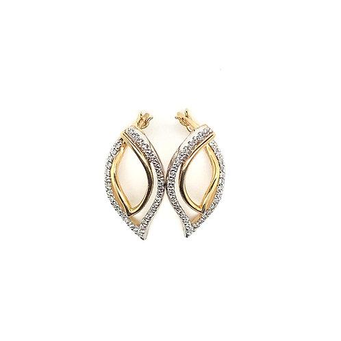 Stunning 14K Gold Lead Diamond Earrings