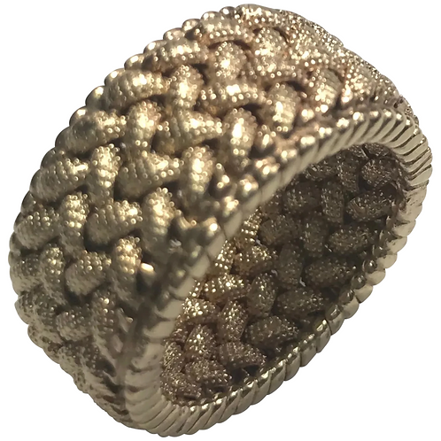 14 k Yellow Gold Solid Woven 10.8 mm Band