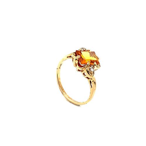 Statement 10K Gold 1.5 Carat Citrine Ring