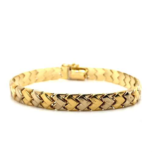 Stunning Thick 10mm Fancy Link Bracelet 14K Gold