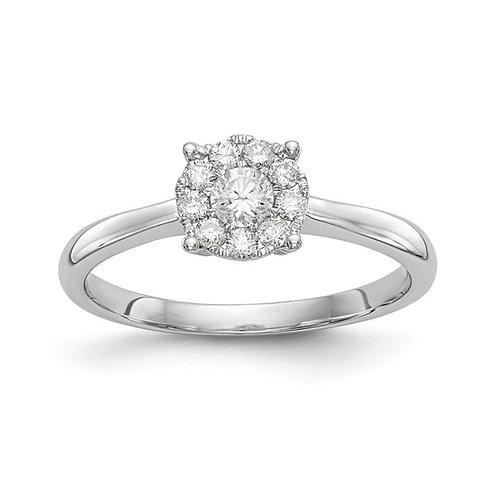 Gorgeous Engagement Ring 14k Polished White Gold & Diamond
