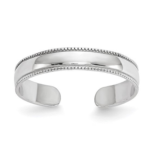 Beautiful Handcrafted 14K White Gold Adjustable Toe Ring
