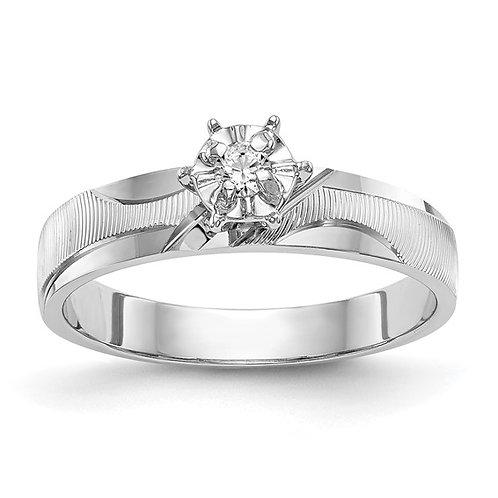 14k White Gold & Diamond AA Quality Trio Engagement Ring