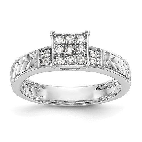 10K White Gold & Diamond Engagement Ring Super Classic Gorgeous Design