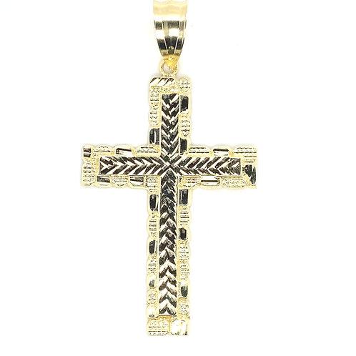 Men's 10K Gold Cross Pendant