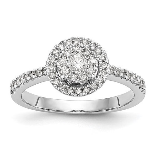Handcrafted 14k Diamond Cluster Engagement Ring Beautiful Piece!