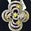 Thumbnail: 10k White Gold, Yellow & White Diamond Flower Ring
