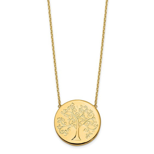 """14k Tree Of Life Necklace Measures 18"""" Made in Italy 3g Gorgeous Piece!"""