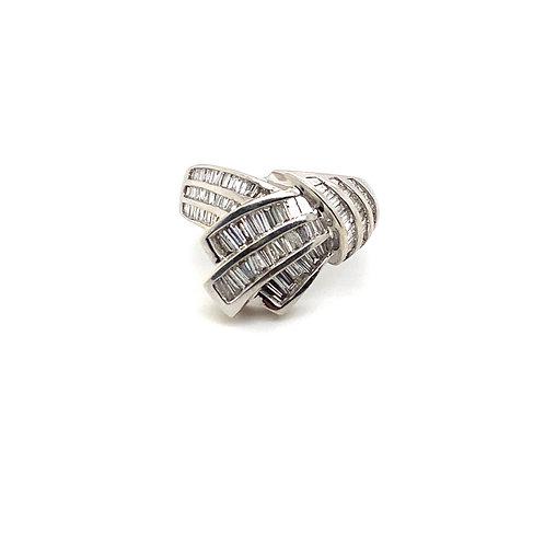 Brilliant Crossover IGI Certified Diamond and 14K White Gold Ring