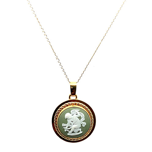 Beautiful Sweet Camille Stone Set in Handcrafted 14k Yellow Gold w/ Necklace