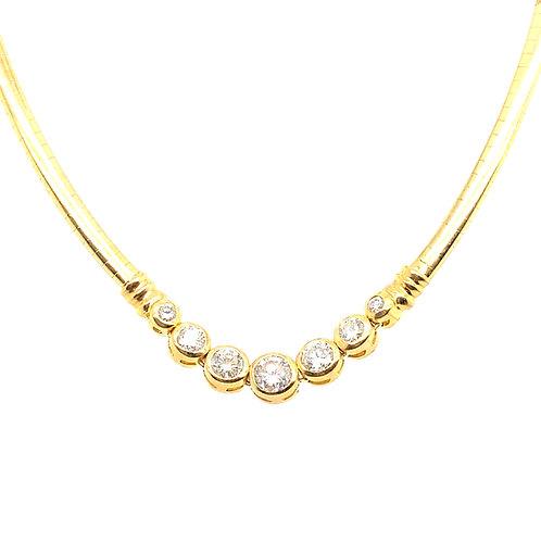 Beautiful 14K Gold 1.36 IGI Certified Diamond Necklace