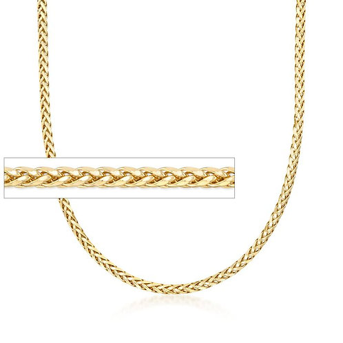 "Solid Franco Handcrafted 10k Yellow Gold Chain Necklace Measures 25"" 6mm"