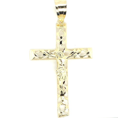 Men's 10K Gold Jesus On the Cross Necklace