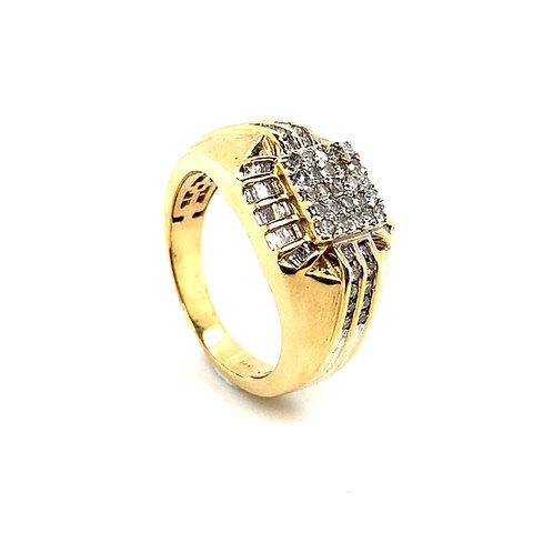 Men's 14K Gold 0.75 Carats Diamond Statement Ring