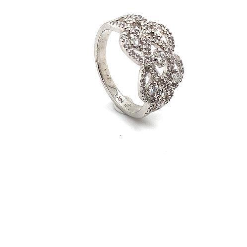 Beautiful IGI Certified Diamond and 10K White Gold Ring
