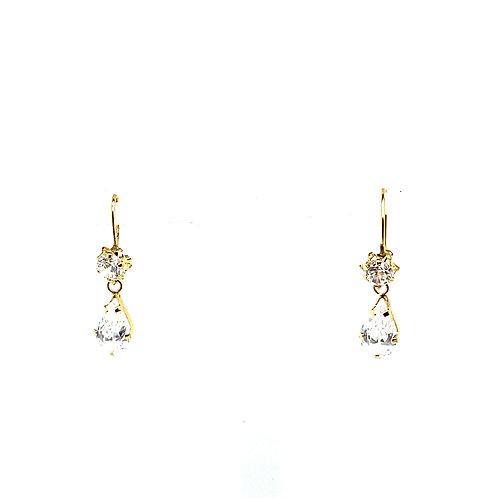 Stunning 14K Gold Dangly Earrings