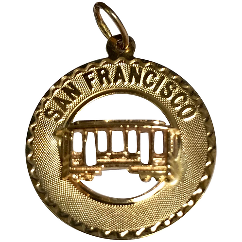 Crea 14 K Yellow Gold Vintage San Francisco Charm/Pendant