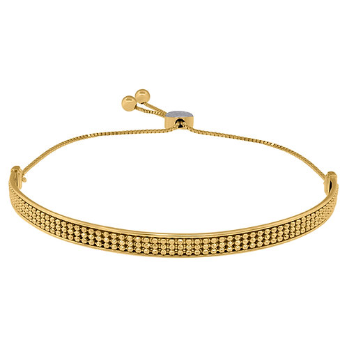 Super Stylish Adjustable Bolo Handcrafted 14k Yellow Gold Fancy Link Bracelet