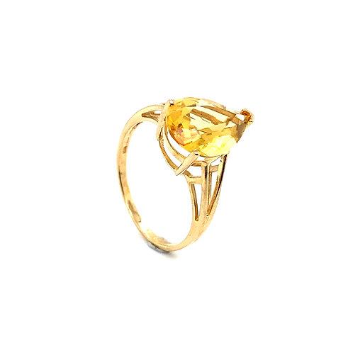 Gorgeous 10K Gold 3 Carat Citrine Ring
