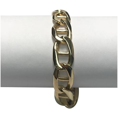 14 K Yellow Gold Solid Marnier Link Bracelet