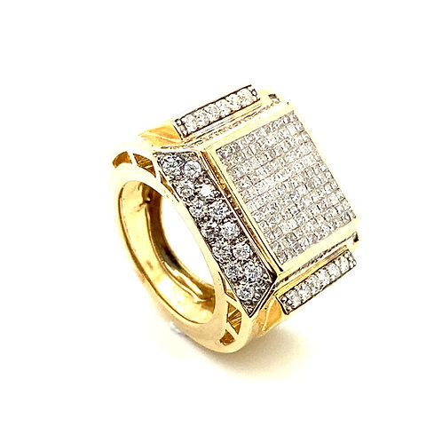 Men's 14K Gold 3.22 Carats IGI Certified Diamond Statement Ring